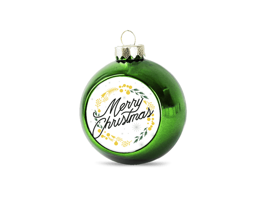 Personalised christmas bauble - green - whitworthprints