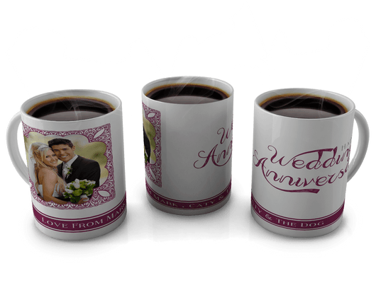 Personalised Happy Wedding Anniversary Mug - whitworthprints