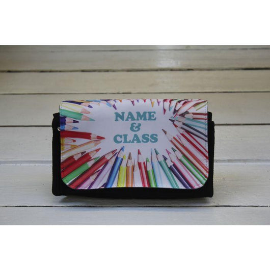 Personalised Black Canvas Pencil Case. - whitworthprints