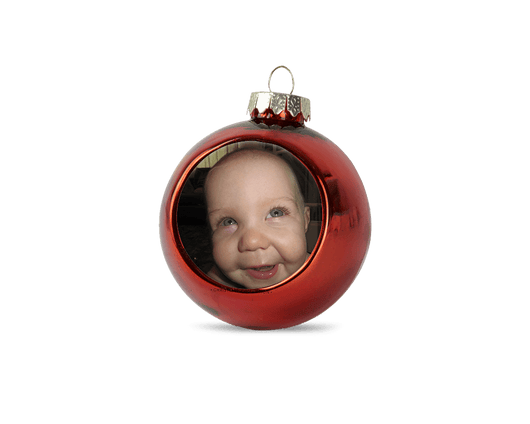 Personalised christmas bauble - red - whitworthprints