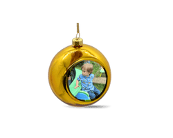 Personalised christmas bauble - yellow - whitworthprints