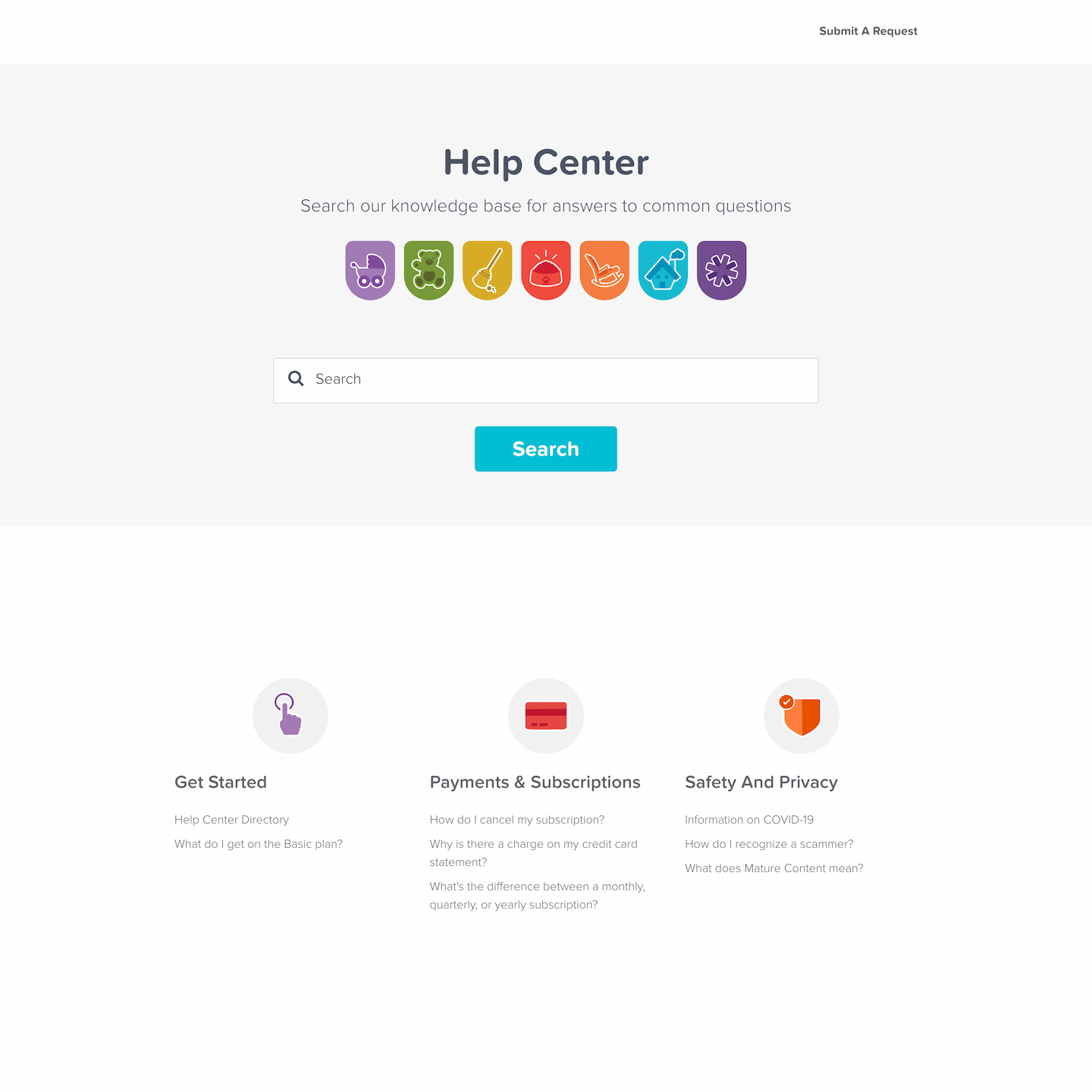 help center branding for Careguide