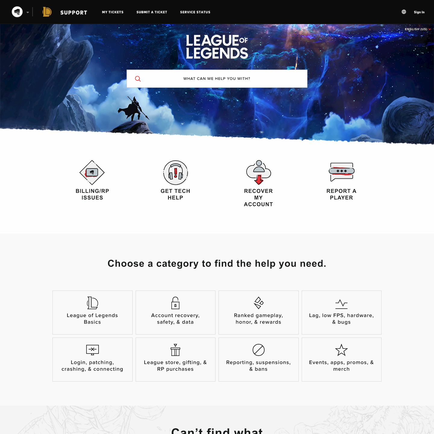 Zendesk custom theme for League of Legends