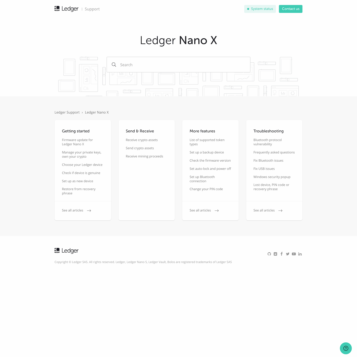 Zendesk custom theme for Ledger