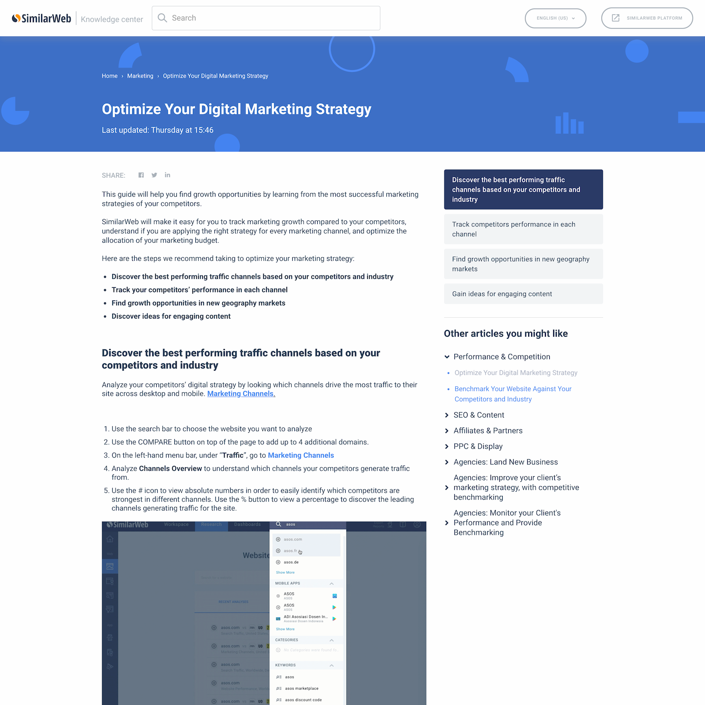 Zendesk example SimilarWeb