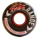 Free: 62mm Free Range Black Longboard Wheels