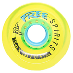 Free: 70mm Free Spirits Yellow Longboard Wheels