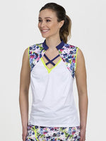 Front Strap Sleeveless White/Floral