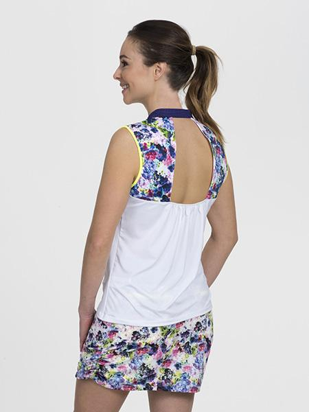 Front Strap Sleeveless White/Floral - SwingDish