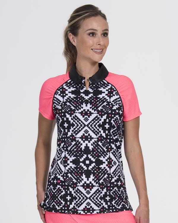 Grace Polo Aztec/Coral