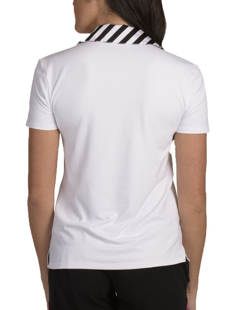 Harper White Striped Neck - SwingDish