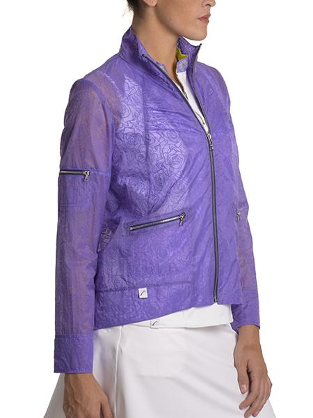 Purple Rose Bomber Jacket - SwingDish