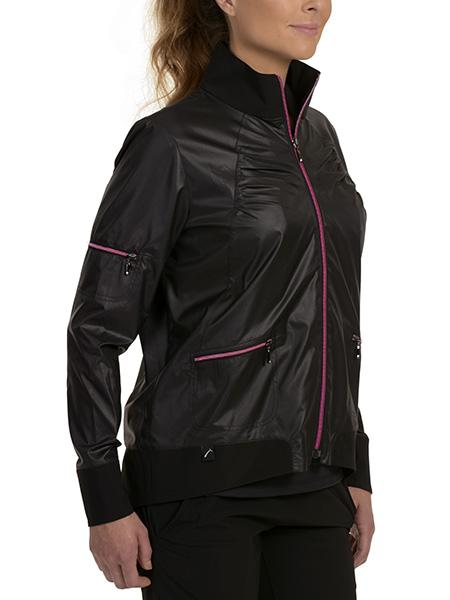 Shelby Bomber Jacket Pink Zippers - SwingDish
