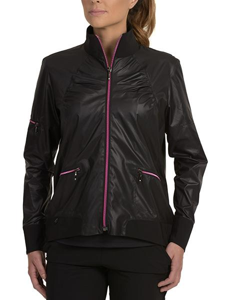 Shelby Bomber Jacket Pink Zippers