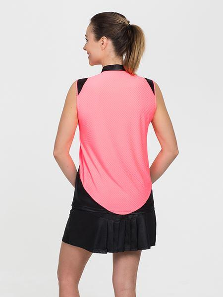 Signature Sleeveless Black/Coral - SwingDish