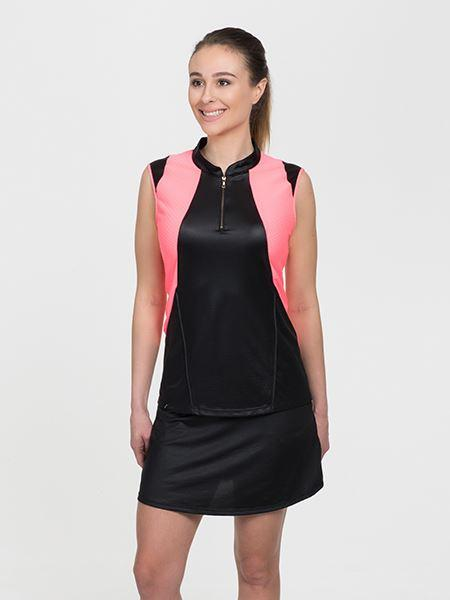 Signature Sleeveless Black/Coral