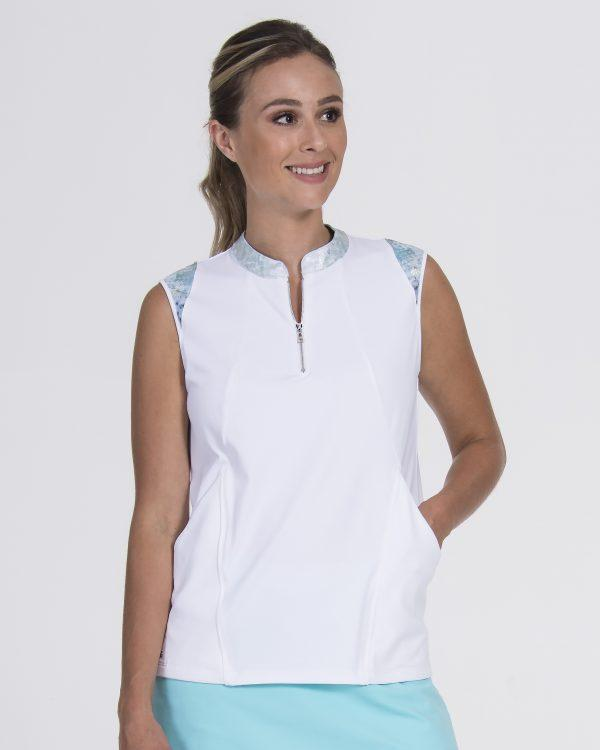 Signature Sleeveless Resort White