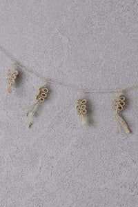 Woven Flower Garland with Tassels x 2