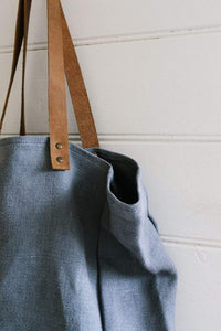 Tote w/ leather handles - Ash