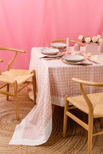 Tablecloth | Gingham Tulle Pink