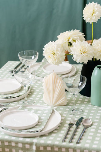 Tablecloth | Gingham Gum Green