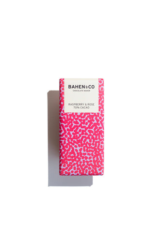 Raspberry & Rose Chocolate Bar ~ Bahen & Co