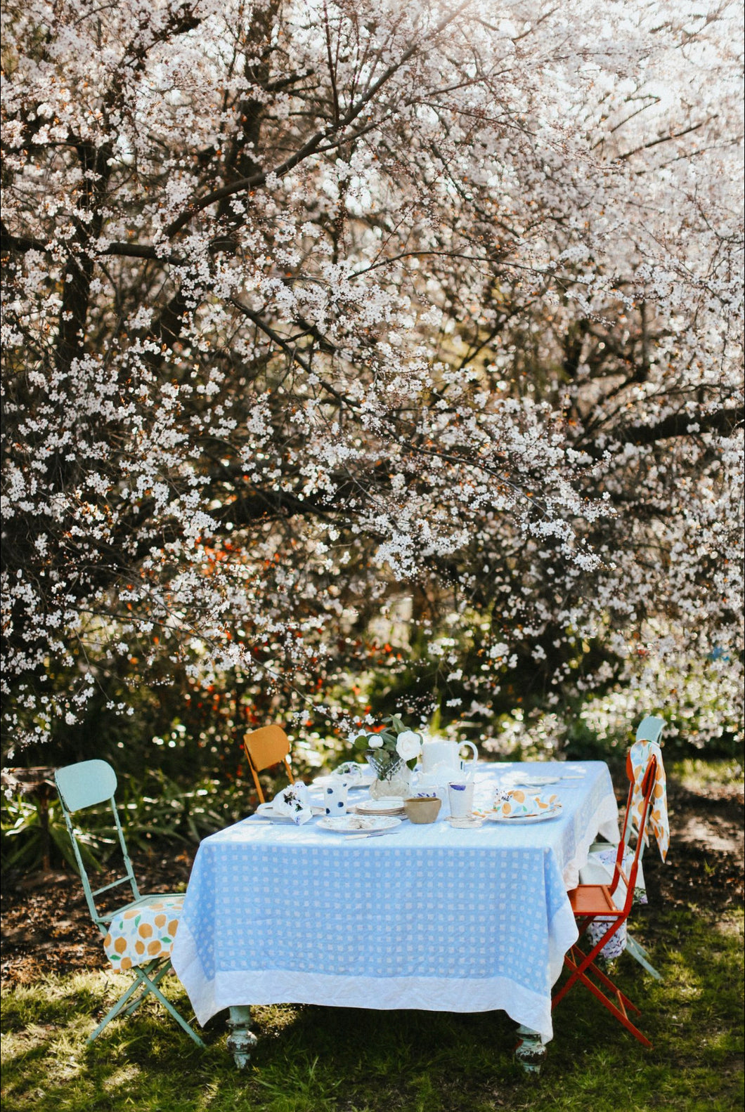 Tablecloth | Gingham Chambray