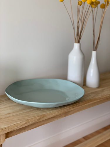 Flax Charger Plate | Duck Egg