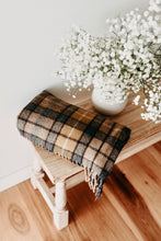 Load image into Gallery viewer, Gold | Recycled Wool Scottish Tartan Blanket