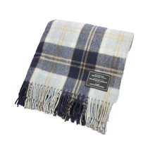Load image into Gallery viewer, Navy | Recycled Wool Scottish Tartan Blanket ~ PRE ORDER