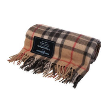 Load image into Gallery viewer, Camel | Recycled Wool Scottish Tartan Blanket