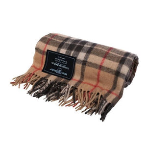 Camel | Recycled Wool Scottish Tartan Blanket