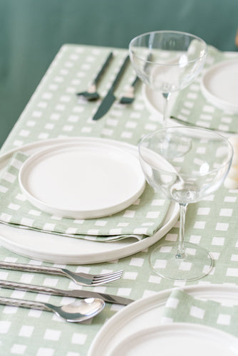 Napkin - Gingham Gum Green | Set of four