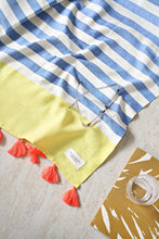 Load image into Gallery viewer, Bora Bora Turkish Towel - Yellow & Blue