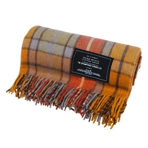 Autumn | Recycled Wool Scottish Tartan Blanket