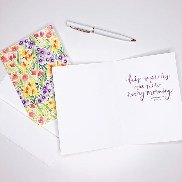 Mercies Are New | Springtime Greeting Card