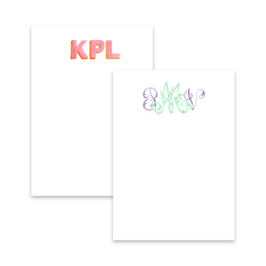 Notepads | Hand Painted Monogram Stationery