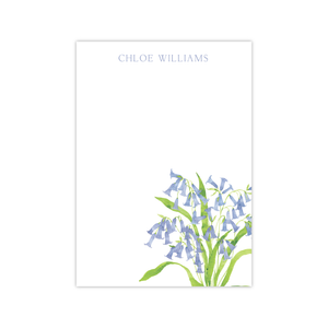 Blue Bells Notepads | Botanical Bouquets