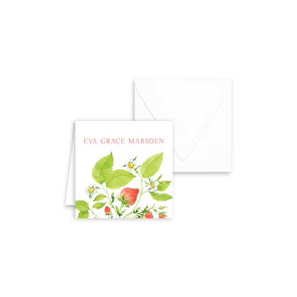 Strawberries Enclosure Cards | Botanical Bouquets