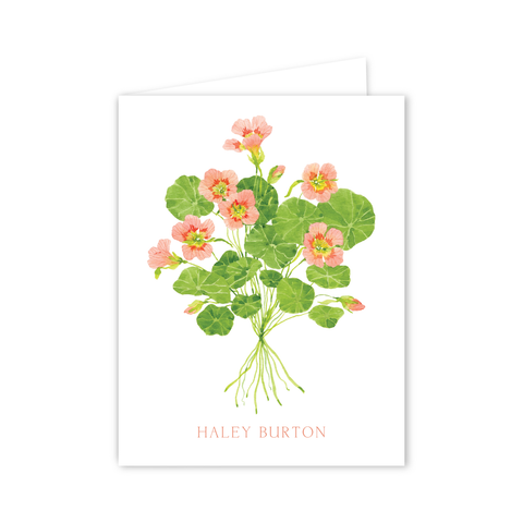 Nasturtium Notecards | Botanical Bouquets
