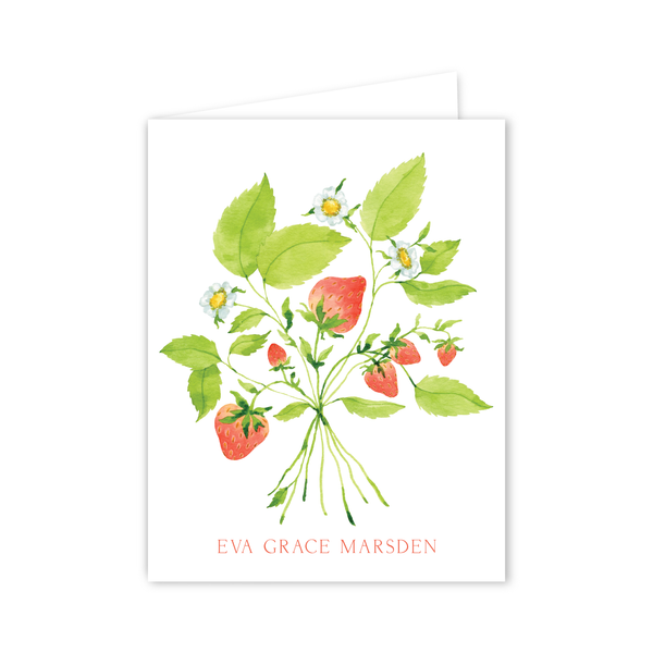 Strawberries Notecards | Botanical Bouquets