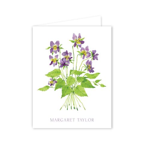 Violets Notecards | Botanical Bouquets