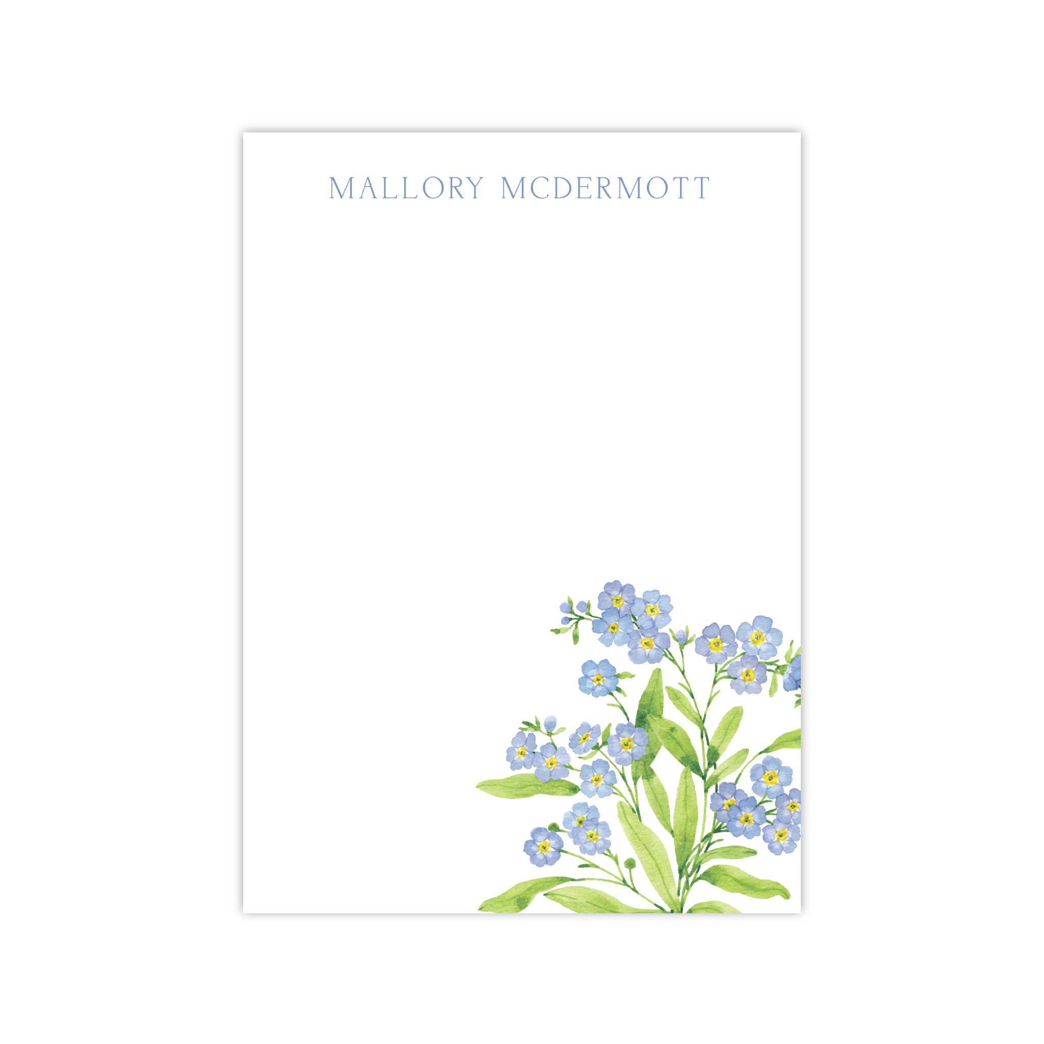 Forget Me Nots Notepads | Botanical Bouquets