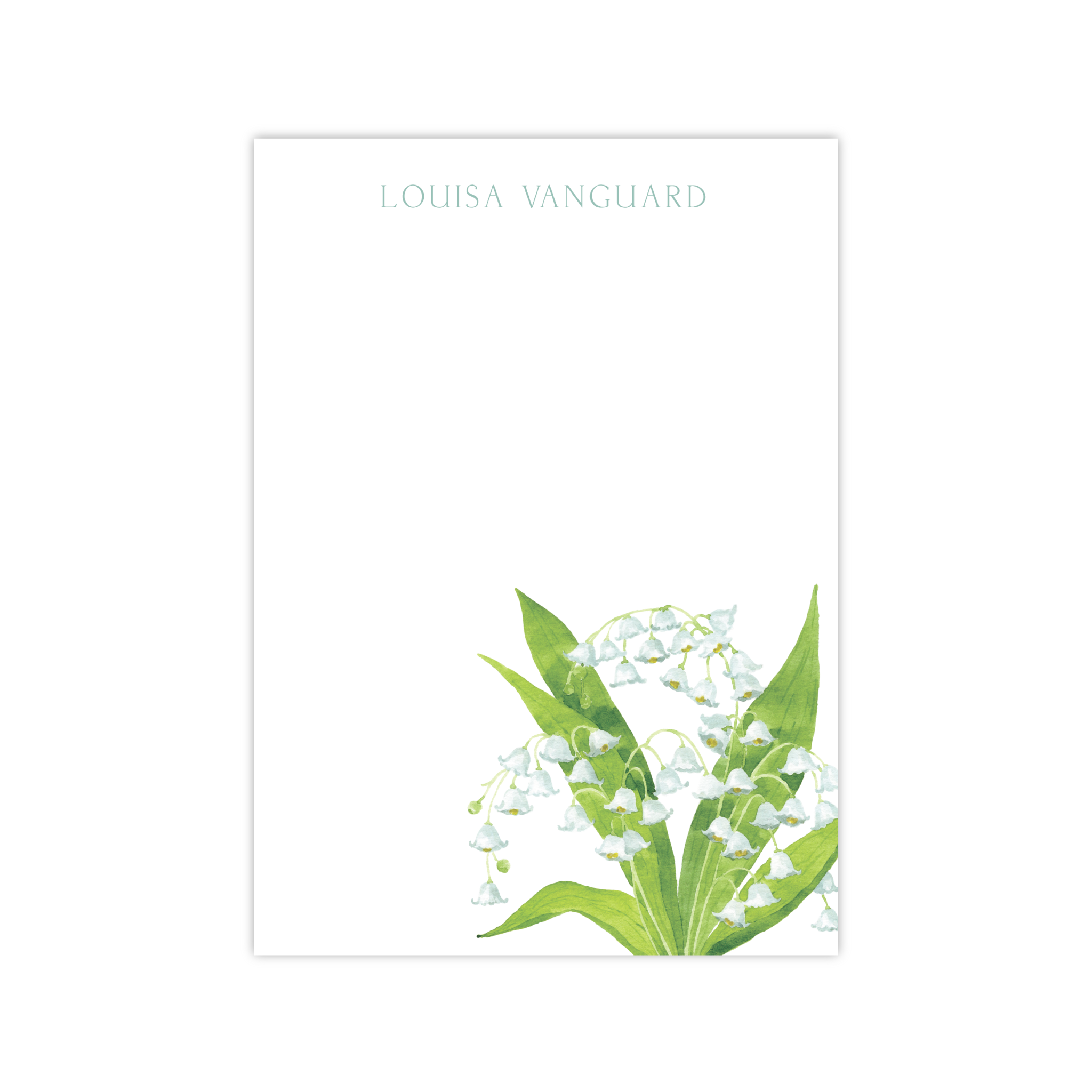 Lily of the Valley Notepads | Botanical Bouquets