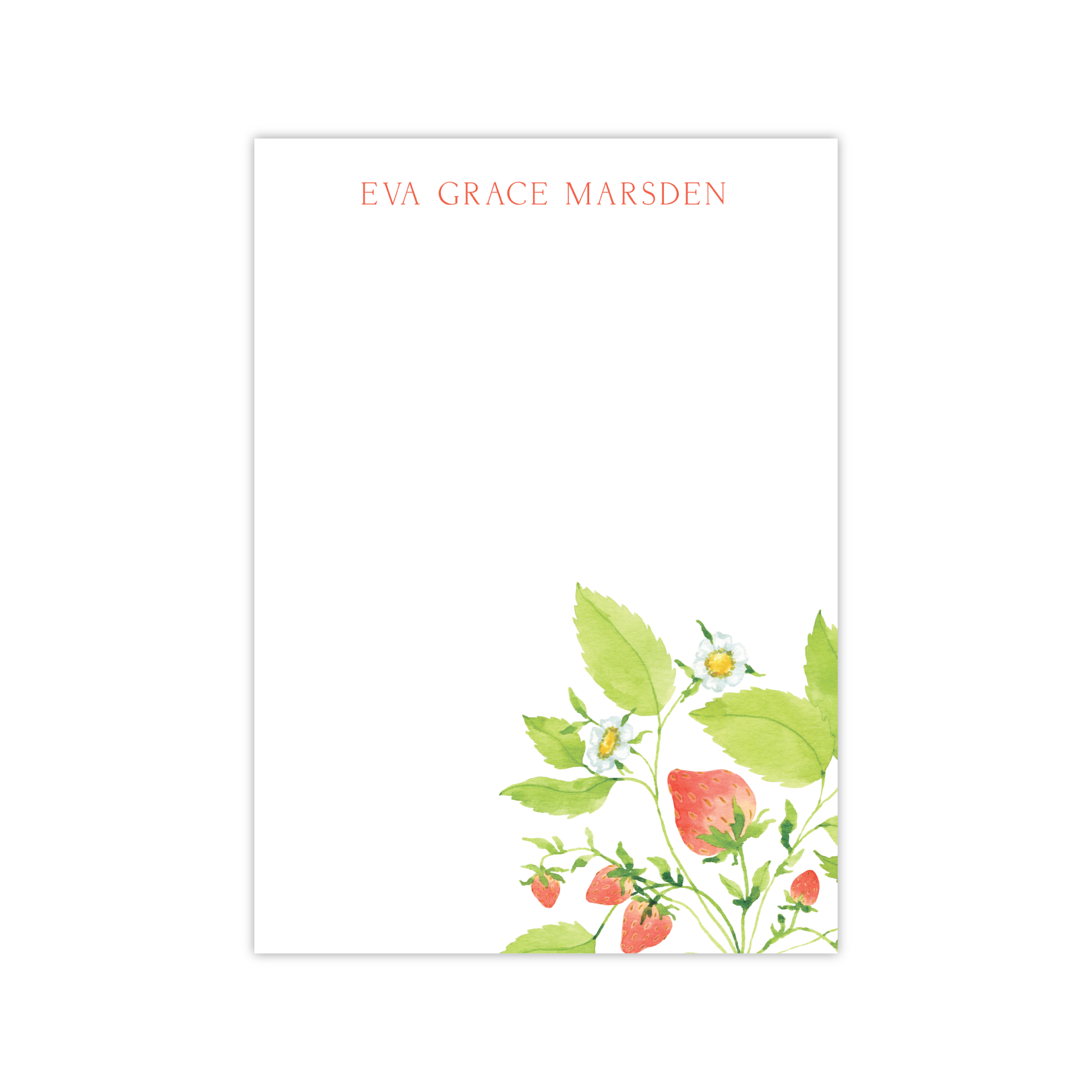 Strawberries Notepads | Botanical Bouquets