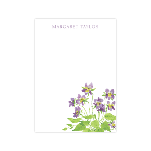 Violets Notepads | Botanical Bouquets