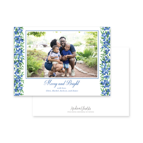 Blue Berries Landscape | Holiday Photo Card
