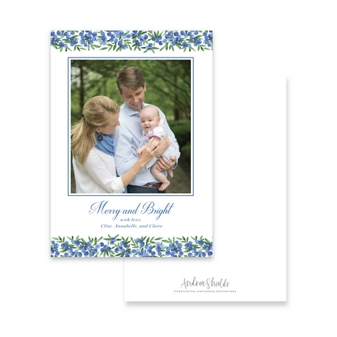 Blue Berries | Holiday Photo Card