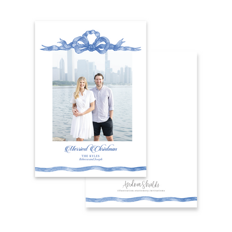 Blue Ribbon | Holiday Photo Card
