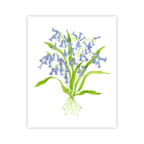 Blue Bells Print | Botanical Bouquets
